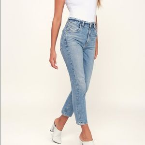 Agolde Palmer Jeans Light Wash Straight Sz 24